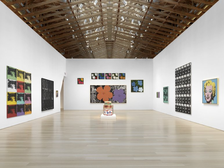 "On display are the classic ""Marilyns,"" flowers, Brillo boxes, and Polaroids, as well as the Maos and Basquiat prints.  Credit Stefan Altenburger, Courtesy The Brant Foundation  Photo 7 of 15 in Andy Warhol at The Brant Foundation Study Center"