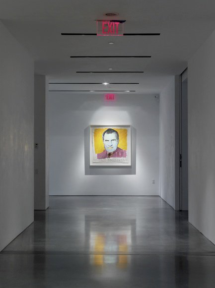 It's often been said that after Warhol created this print of Nixon, the notoriously petty leader requested Warhol be audited for several years to come.  Credit Stefan Altenburger, Courtesy The Brant Foundation  Photo 13 of 15 in Andy Warhol at The Brant Foundation Study Center