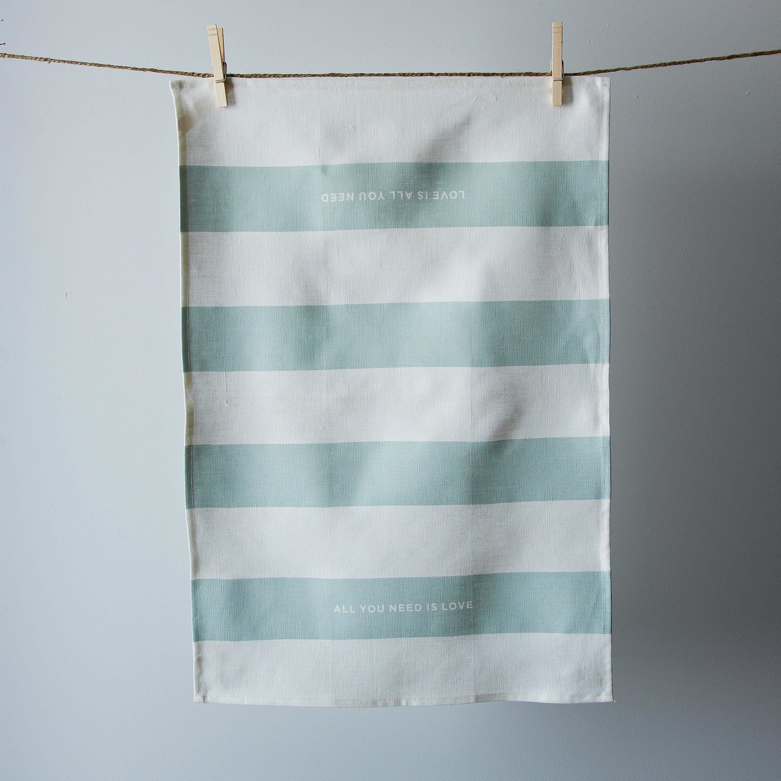 """""""Designed to soften with use and absorb with efficiency, these 100% linen tea towels are carefully sewn and handprinted one by one."""" Linen tea towel made in San Francisco by Studiopatró at Provisions, $24.  Photo 4 of 10 in Cooking Expert-Approved Kitchenware from Provisions"""