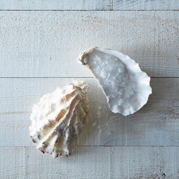 """Ben Jacobsen of Jacobsen's Salt Co. in Oregon, collects these oyster shells in the bay where he draws the sea water for his flakey sea salt. We use the shells for holding salt, coarsely ground pepper, and sliced citrus; we also think they make a fine soap dish."" Jacobsen's Oyster salt cellar pair at Provisions, $16  Photo 9 of 10 in Cooking Expert-Approved Kitchenware from Provisions"