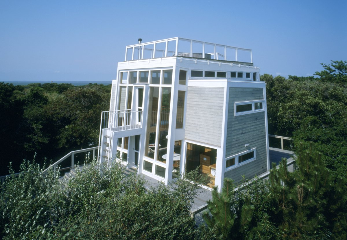 547 Beachcomber Walk by architect Andrew Geller (1958-61), Restoration helmed by Larson and Paul Architects in 2006.  Photo 1 of 8 in Must-See Modern Beach Houses on Fire Island Tour