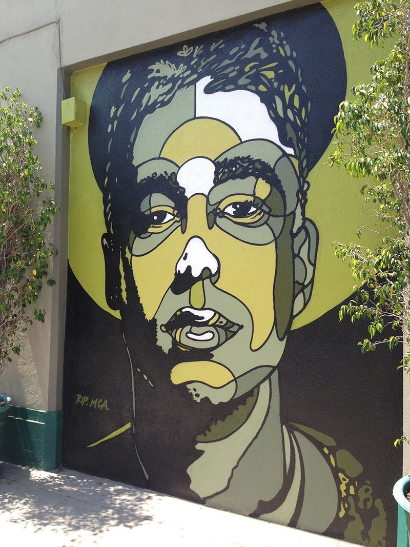 Well-known artist David Flores pays tribute to MCA on an Atwater Village wall.  Photo 9 of 12 in Art and Design Come Together in These 10 Examples of Inspirational Wall Murals from Neighborhood to Watch: Atwater Village in Los Angeles