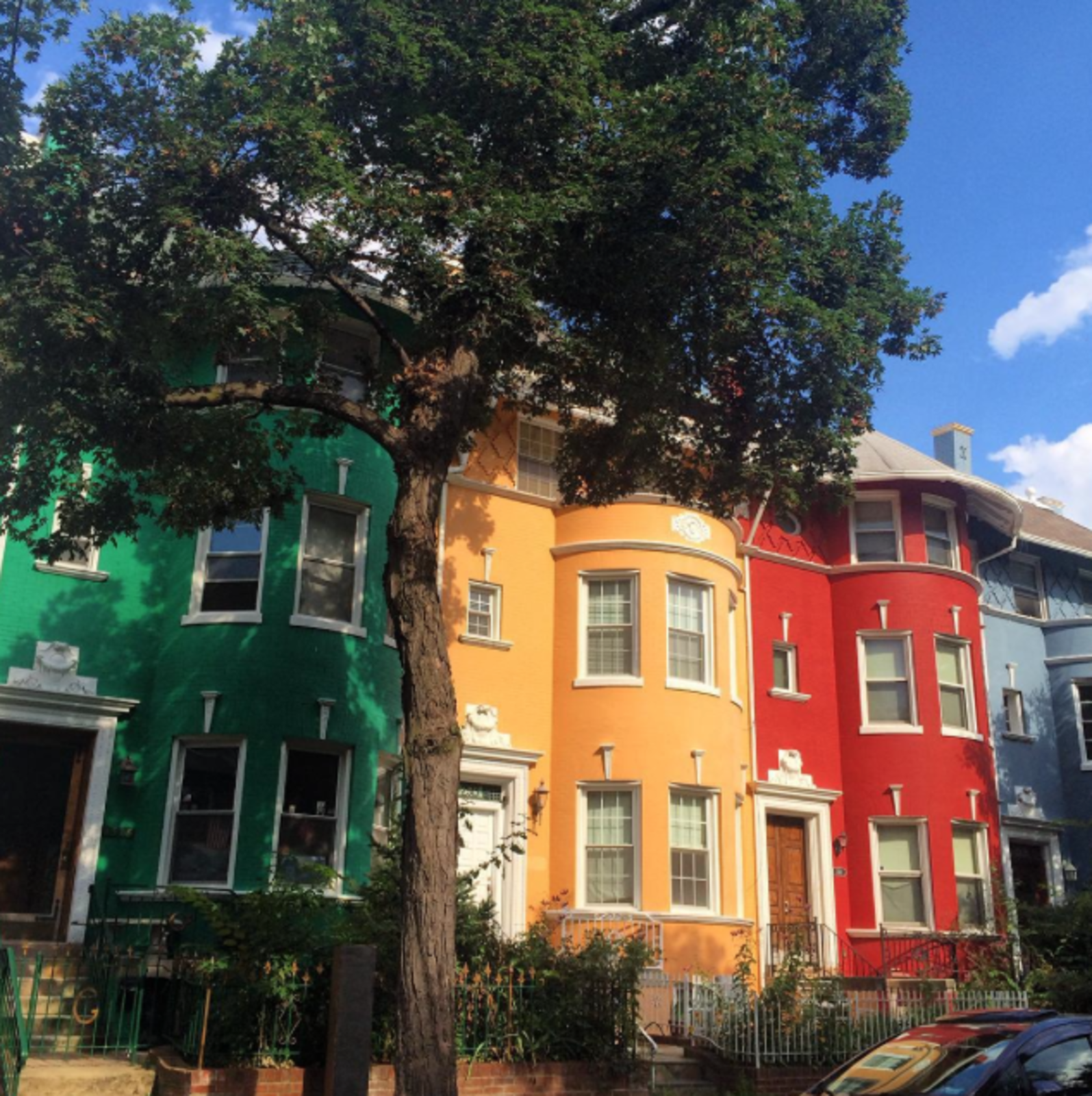 """""""Checking out the best and favorites of DC by #bike.""""  Photo 1 of 1 in Photo of the Week: Rainbow Row Houses in DC"""