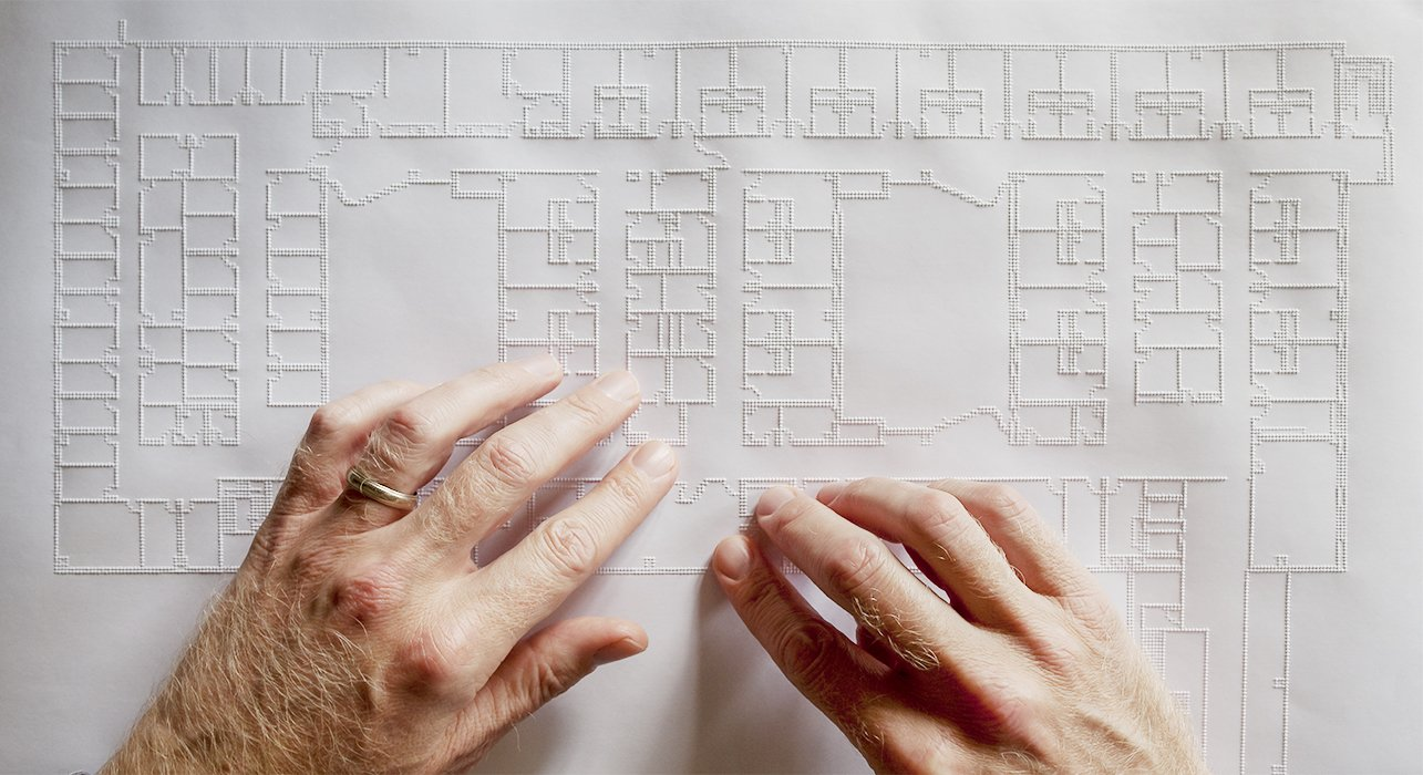 A Tiger Pro embossing printer allows Downey to read plans by touch.  Photo 3 of 6 in An Architect Lost His Sight and Kept Working Thanks to Breakthrough Technologies for the Blind