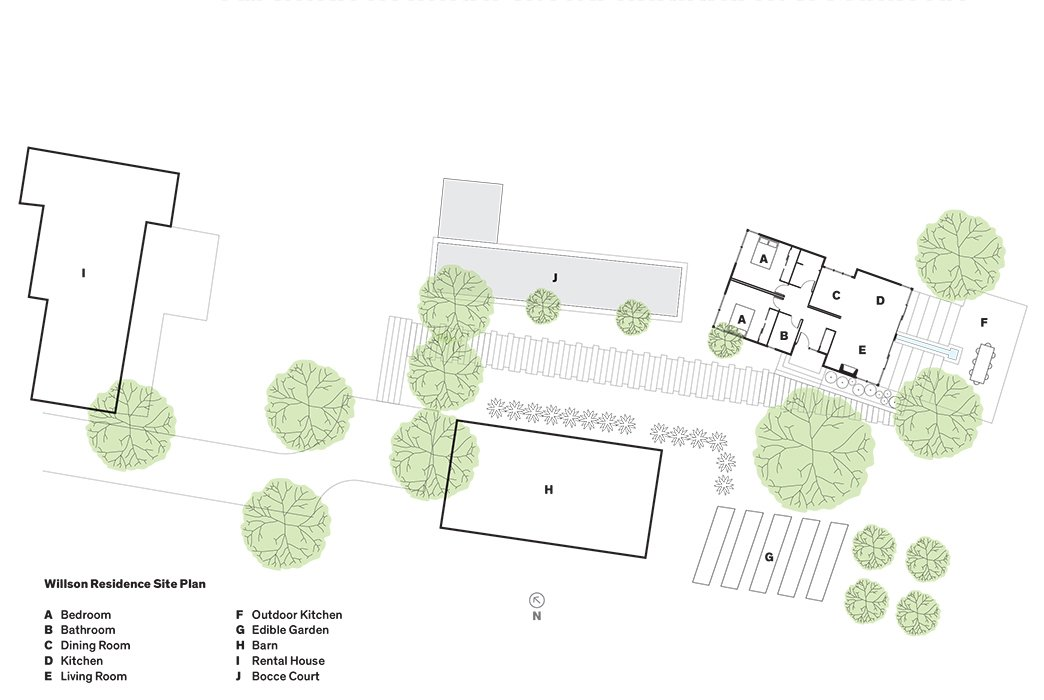 Willson Residence Site Plan  Photo 10 of 14 in A Homeowner Uses Smart Technology to Manage His Napa Property from Anywhere