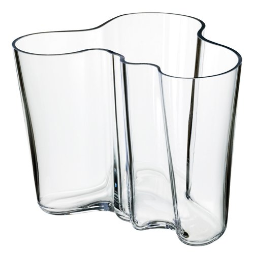 Designed in 1936 for the Paris World's Fair, Alvar Aalto's Clear vases are a classic must-have.