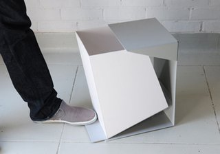 This geometric waste bin, designed by Grace Youngeun Lee, opens up in an incredibly clever way and honors clean lines and minimalism, despite the mess that may sit inside it.