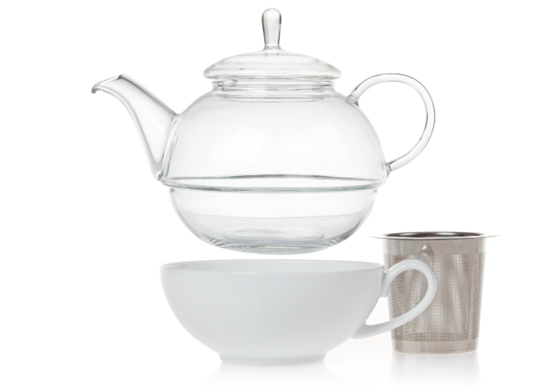 This set from Canadian tea pros David's Tea is the perfect setup if all you need is one last cup of tea to end your day. With a glass teapot that fits perfectly into a porcelain cup to create one little package, a tea party for one has never been so simple.