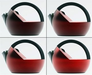 The Creativi*tea kettle by Sarina Fiero adds color to the often simple task of making tea by adding heat-sensitivity into the mix. The shell of the kettle changes from a darker shade of red to a luminescent red as the water heats up, informing you when your water is ready.