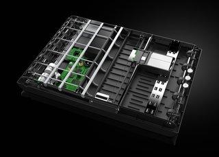 The internal mechanisms of the Stack.  Photo by: Mugi Yamamoto