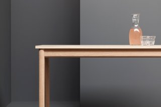"""Graft Table: """"The simple perfect proportions, clean lines and elegant curves of the Graft table are ideal for everyday use whether for dining, working or playing dominoes,"""" says Welsh. ($2,317)"""