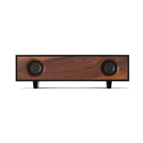 This walnut tabletop version of Symbol Audio's all-in-one hi-fi console unit retains the same vintage vibe while taking up less space. Made to order in Hudson Valley, New York.