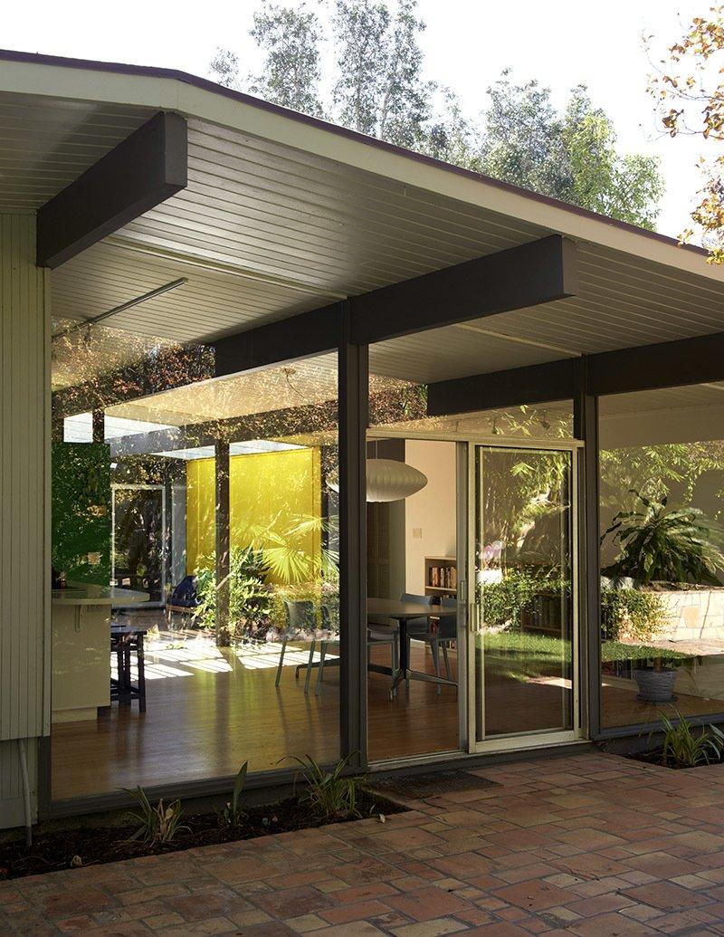 california eichler midcentury home exterior