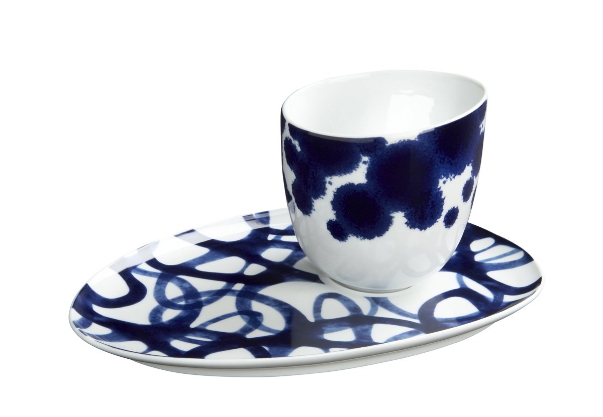 """Como espresso cup ($11.95) and saucer ($9.95) by Paola Navone Only at Crate & Barrel.  Search """"jansen co my mug espresso saucer"""" from Pieces by Paola Navone Only at Crate & Barrel"""