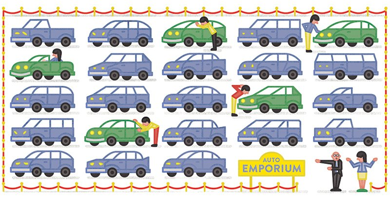 Illustration by: Michael Jeter  Photo 1 of 1 in Green Car Buying Advice