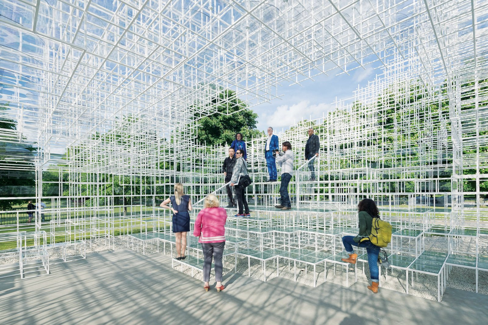 His sketches for the 2013 Serpentine Gallery Pavilion in London were rendered into small paper and foam models, then into assemblages of wooden dowels, and ended up as an enveloping array of delicate steel bars (seen here). He is the youngest architect ever to receive the prestigious commission.  Photo 2 of 6 in Architect We Love: Sou Fujimoto