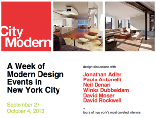 Join Us in NYC for City Modern 2013