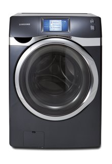 Samsung Smart Care Washer   If you're the kind of person who forgets to start a load of laundry and only realize after leaving the house, Samsung's Smart Care Washer might be a good fit. It features an app that lets you remotely turn on the appliance and track its progress. And when you're home, you interact with the washer through an LCD touchscreen, accessing plenty of washing options and settings.  Photo by: Samsung