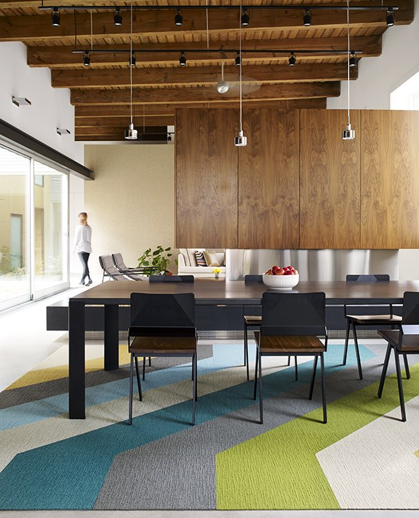 Ditch The Area Rug This Easy Modular Carpet System Has Serious Green Cred