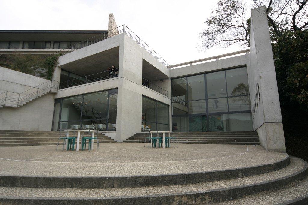 Benesse Art Site Naoshima by Tadao Ando concrete exterior entrance