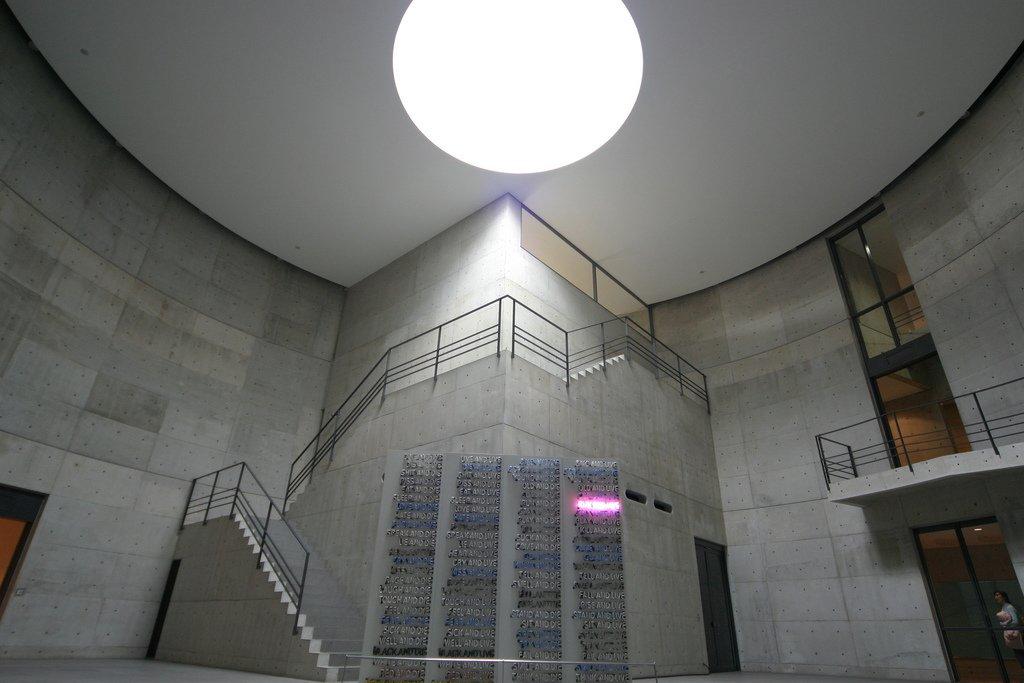 Benesse Art Site Naoshima by Tadao Ando concrete entrance foyer