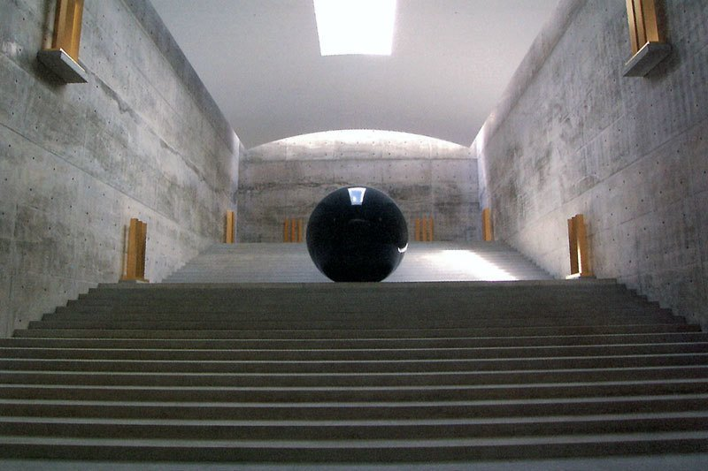 Chichu Art Museum by Tadao Ando concrete staircase.