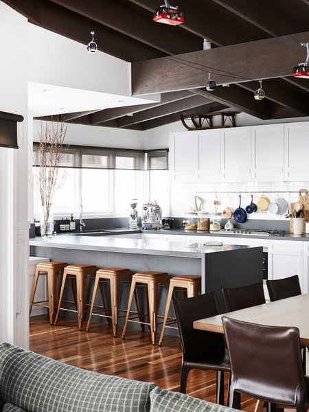 The Mt. Buller Home of Andrew and Tiffany Percy and Family via the Design Files.