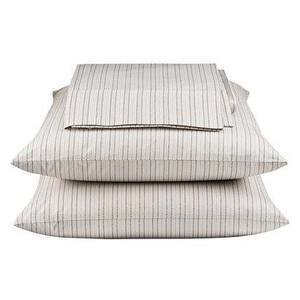THOMAS O'BRIEN MENSWEAR STRIPE SHEET SET  Thomas O'Brien always has wonderful stuff for Target, but we especially like his classic sheet set. It would work as a great layered with other neutrals.