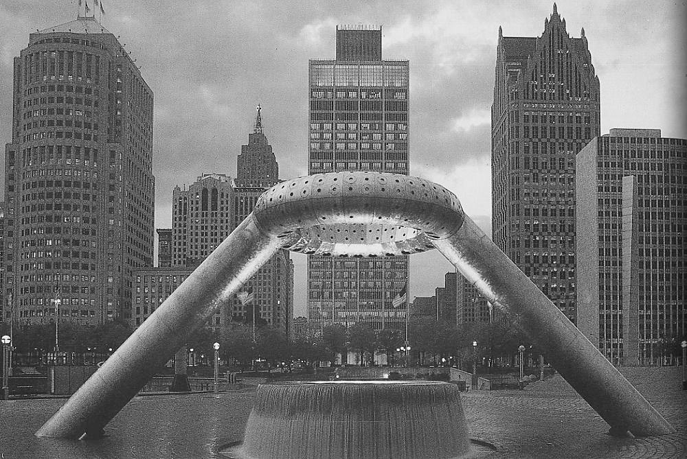 Heralded as a cultural landmark when completed in 1979, the plaza features a sculptural fountain designed by Noguchi. For more on the plaza, Docomomo offers a good history.  Photo 3 of 7 in 5 Public Landscapes of Isamu Noguchi