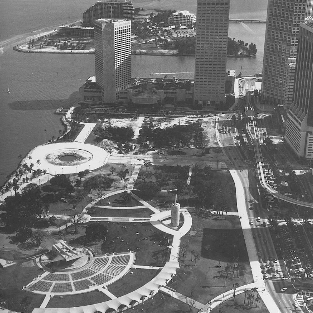 """Bayfront ParkMiami, Florida  When the city of Miami commissioned Noguchi to redesign Bayfront Park in downtown Miami, Florida, the area was underutilized. """"The idea was that it would be a park for people—not an escape from the city, but a place to go to, a place for congregation,"""" Noguchi said about the design. It features a 20,000-seat amphitheater, rock gardens, ample vegetation, and an esplanade.  Photo 5 of 7 in 5 Public Landscapes of Isamu Noguchi"""