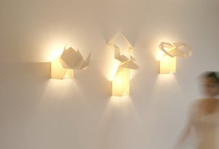 Another Origami creation from Posada is Hunters, pendants that affix to the wall.