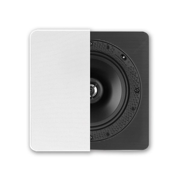 OneButton chose Definitive Technology's DI 6.5S models for their superb sound quality and matte-white finish. A Corian grille hides the subwoofer.