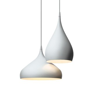 SPINNING LIGHT BH2  Sleek, sexy, and understated, Hubert's very grown-up pendant lighting is actually inspired by a children's spinning top toy.