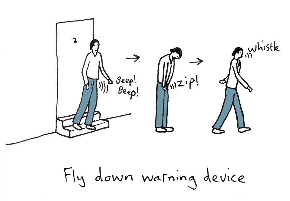 """Search """"where pigs fly"""" from A Fly-Down Warning Device, and Other Hilarious Smart Tech Ideas from an Artist"""