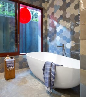 One Home, Three Bathrooms, Each With an Awesome Way to Use Tile