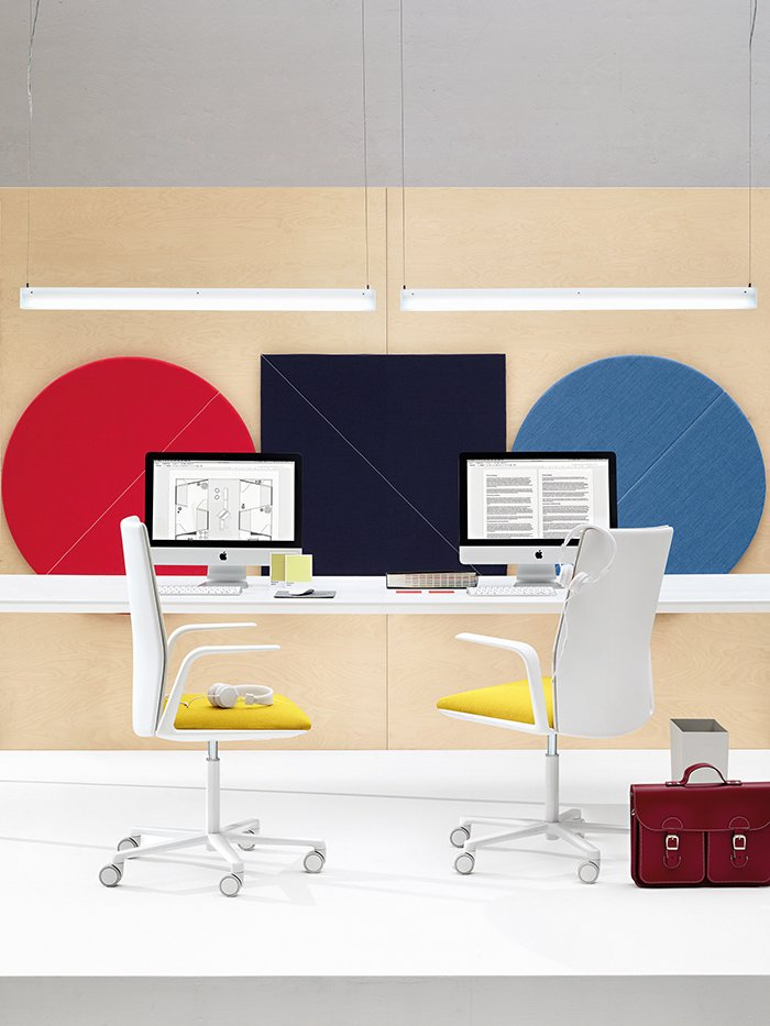 For workplaces and home offices, the acoustic wall panels mitigate extraneous noise while adding visual flair.  60+ Modern Lighting Solutions by Dwell from These Simply Stunning Acoustic Panels Have Neat Lighting and Audio Add-Ons