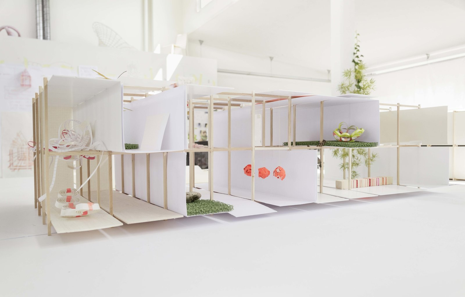 """The maquette that Campbell is working from is a giant storage unit simulacrum, where a series of boxes come to life with their uses, which are meant to be flexible but still rational.  Search """"memoriam ada louise huxtable"""" from Designer Louise Campbell Featured at Imm Cologne"""