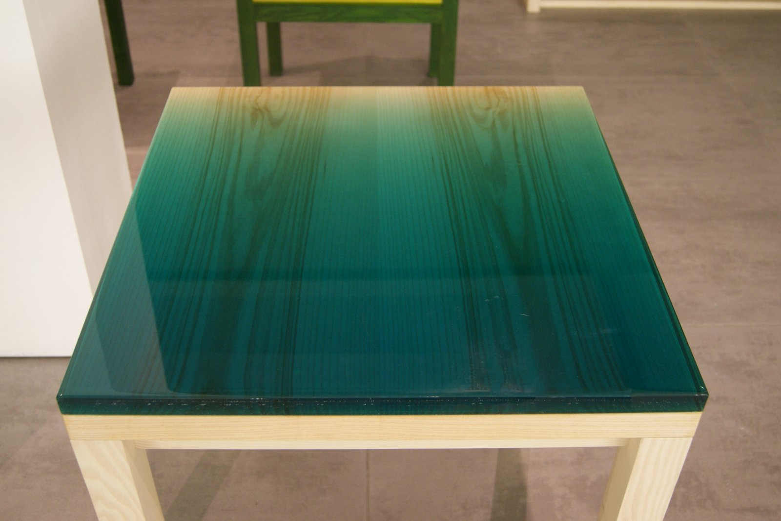 A thick coat of resin provides a tactile tabletop on one of Japanese architect Jo Nagasaka's new pigmented resin pieces for Brit brand Established & Sons.  Key Trends from 2013 London Design Festival by Ali Morris