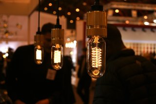 British brand Buster + Punch showcased a line of beautiful bulbs that replicate the old Edison filaments. Designed to be exposed, the bulbs are available in spiral and teardrop shapes and look particularly good when teamed with Vitamin's lamps (previous slide).