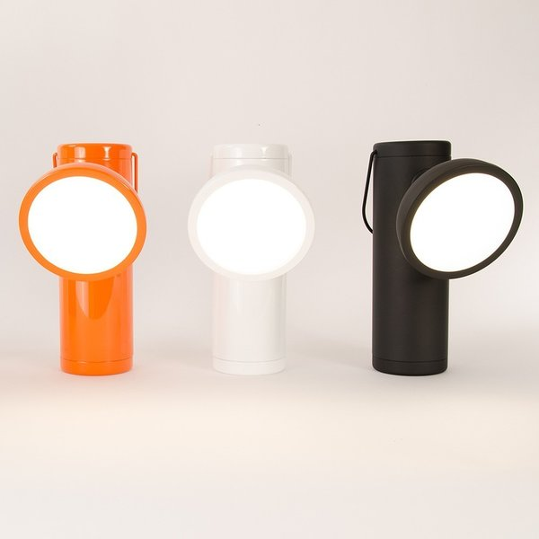 Wireless M Lamp by Junpier  This innovative light was inspired by miners' lamps of the 19th century. Designed by David Irwin for Juniper, the M Lamp is a portable task lamp that is designed to complement a modern lifestyle.
