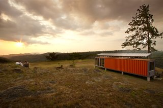 "The recycled shipping containers were sourced from the Pacific Port of Caldera in Costa Rica. ""Discarded shipping containers are all over the world and cost relatively little,"" Saxe says. ""With a bit of creativity and understanding of local building techniques, the interiors can be modified for any client."""