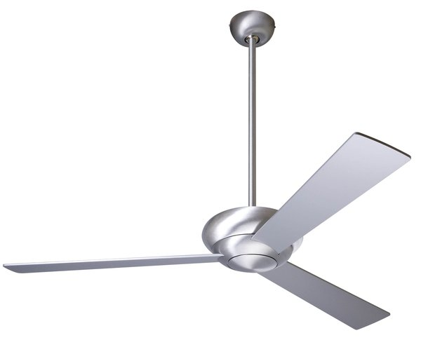 The Altus Ceiling Fan meets at the intersection of drama and minimalism. Including both 5-inch and 17-inch downrods, the Altus can be used in a high ceiling room, as well as lower profile settings. The Altus is available with or without a light, and in brushed aluminum or glossy white.
