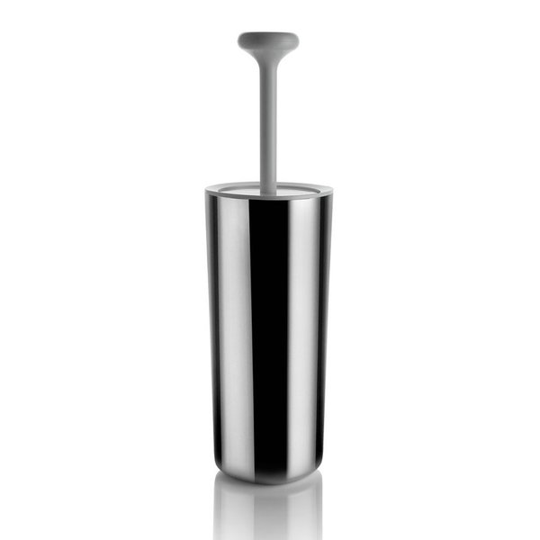 The Birillo Toilet Brush lends a touch of elegance to an otherwise dolesome household chore. Created by Italian-based designer Piero Lissoni, the Birillo Toilet Brush is made from shatter-proof PMMA in opaque white and high polished stainless steel to create a mirror effect. Perfectly compliments the rest of the collection of Birillo bathroom accessories for the modern home.
