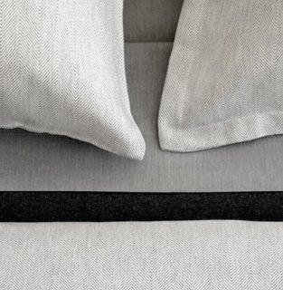 RAY GREY & CAMEL  The Ray collection is 100% cotton sateen in a classic herringbone pattern.