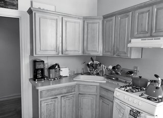 Friedlander and Schmidt replaced the stock cabinetry in the kitchen as part of the renovation.
