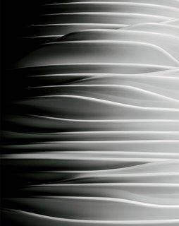A close-up of the undulating Relax tabletop collection by Tamer Nakişçi.