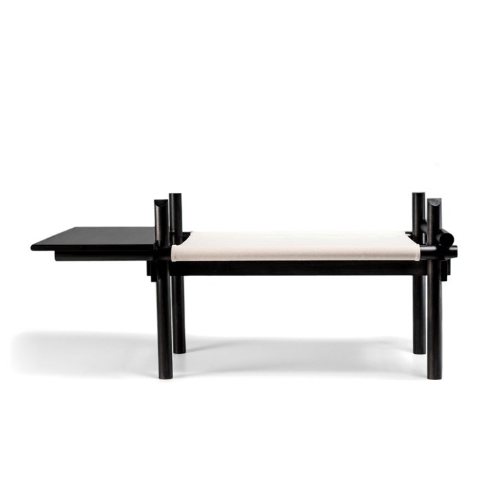 The Seattle workshop's debut furniture collection uses a pared down, kit-of-parts construction that allows a lounge chair to easily morph into a side bench.  Shape-Shifters: Modular Furniture