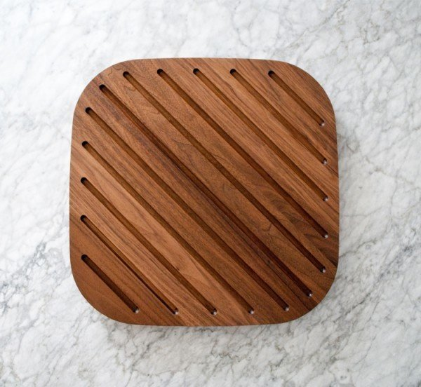 Bias Block : Walnut  This handmade walnut block is not only rich and beautiful but practical for catching juices when carving the holiday bird or roast.