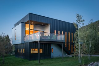 """Pared-down and rectangular, the 2,300-square-foot Cache Creek residence was built with a modest budget. """"We set out to do a very big thing with a very small amount of money, and we achieved all our goals and more,"""" says architect Eric Logan. """"It's a wonderful little box."""""""