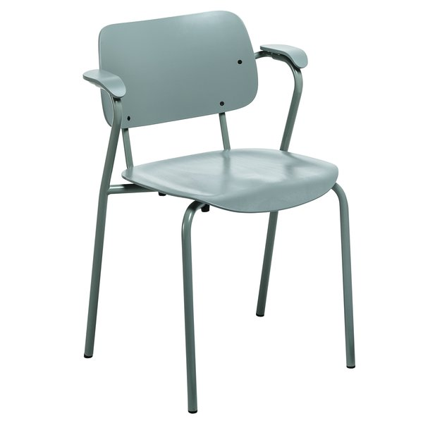"""The Lukki family of seating (Finnish for """"daddy longlegs"""") includes a range of armchairs and stools in a variety of finishes including sage and stone grey, new for 2014 from Artek."""
